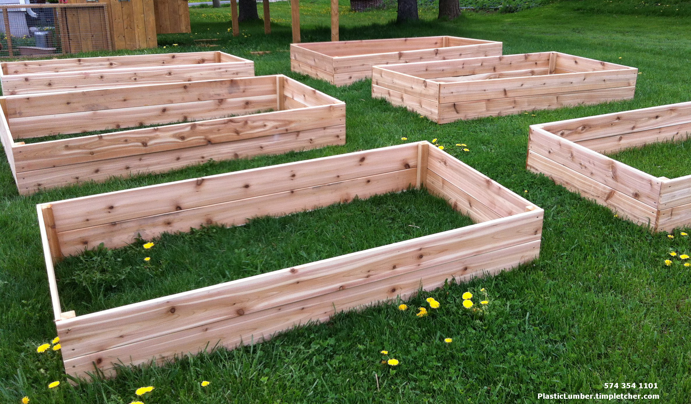 Cold frame covered raised garden bed plastic lumber Raised garden beds